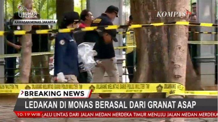 LIVE STREAMING Kondisi Terupdate Ledakan di Monas yang Lukai 2 Anggota TNI, Terungkap Penyebabnya
