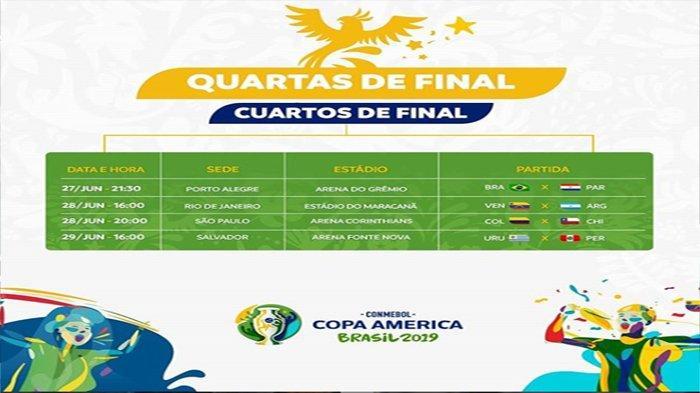 Live Streaming Paraguay Vs Brazil 28 Juni Jam 07.30 WIB! Trisula Coutinho, Firmino dan Gabriel Jesus