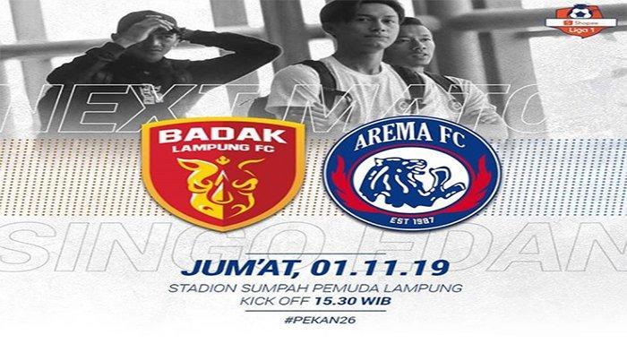 SEDANG BERLANGSUNG Live Streaming Badak Lampung Vs Arema FC Shopee Liga 1 2019, Laga Ujian Tim Tamu