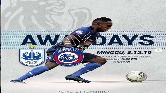 Live Streaming PSIS Semarang Vs Arema Liga 1, Makan Konate & Riky Kayame Vs Bruno Silva