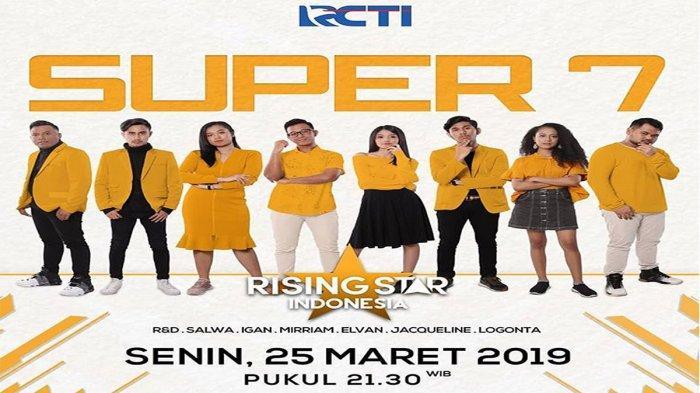 Live Streaming RCTI Rising Star Indonesia Super 7, Cek Jadwal dan Cara Voting Rising Star Indonesia