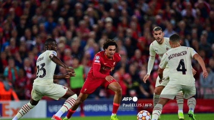 LIVE Streaming SCTV Sport Update Skor Sementara Liverpool Vs AC Milan Liga Champions, Ada Gol Bundir