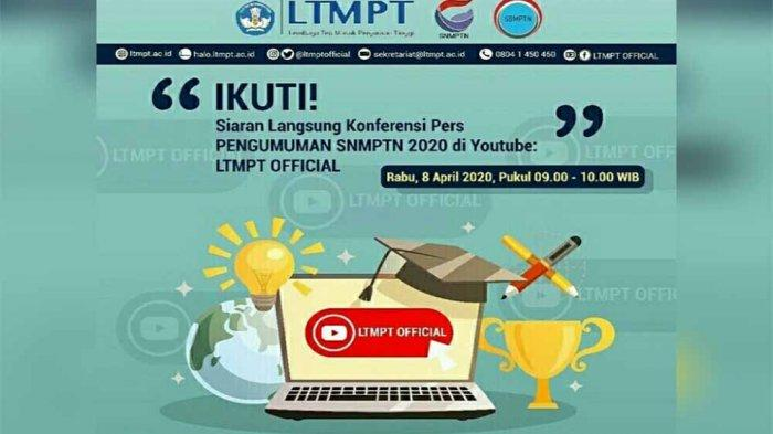 LIVE STREAMING Siaran Pers Pengumuman SNMPTN 2020, Cek Kelulusan Kamu via pengumuman.snmptn.ac.id