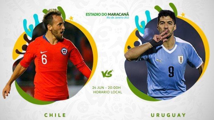 LIVE Score Copa America: LIVE Streaming Uruguay Vs Chili Jam 06.00 WIB, LIVE Chili Vs Uruguay