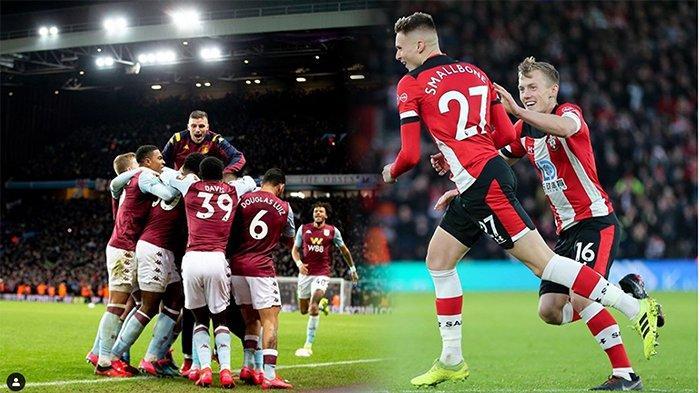 LIVE TVRI Southampton Vs Aston Villa Liga Inggris, Sabtu (22/2) | Ancaman Zona Degradasi