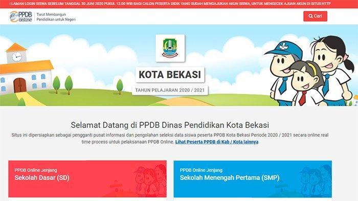 LOGIN bekasi.siap-ppdb 2020 SMP dan SD, Pendaftaran PPDB Bekasi Dibuka | Hanya 4 Hari, Lihat Caranya
