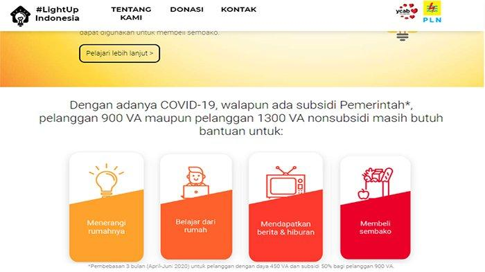 LINK LOGIN www.lightup.id - Ikuti Cara Berikut, Dapatkan Listrik Gratis Pelanggan 900 VA & 1.300 VA