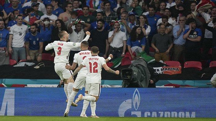 GOL! Inggris Unggul Atas Italia Final Euro 2021, Skor Sementata Inggris Vs Italia Babak Pertama