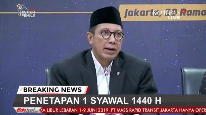 Masih Terbawa-Bawa Beda Pilihan Politik Pada Pilpres 2019, Ini Pesan Menteri Agama di Idul Fitri Ini