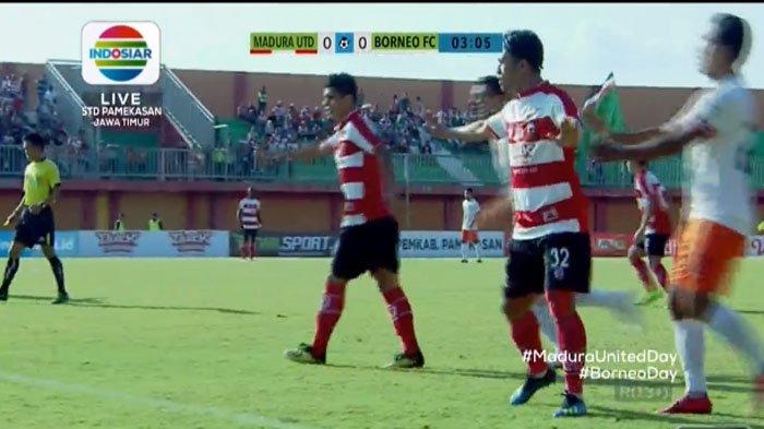 LIVE STREAMING Madura United Vs Borneo FC, Sedang Belangsung Pekan 23 Gojek Liga 1