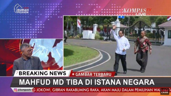 NAMA-NAMA Menteri Kabinet Jokowi Jilid 2 - Bersama Istri, Mahfud MD Berangkat ke Istana Negara