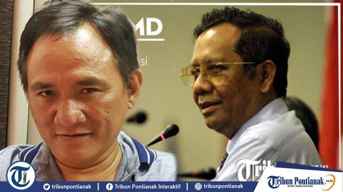 Dilepas Polisi, Andi Arief Berkicau di Twitter dan Ancam Cabut Gelar Guru Besar Mahfud MD