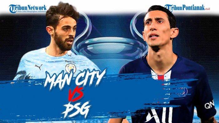LINK SCTV Sport Live Streaming Liga Champions Sekarang, Live Score Man City Vs PSG & Skor Sementara