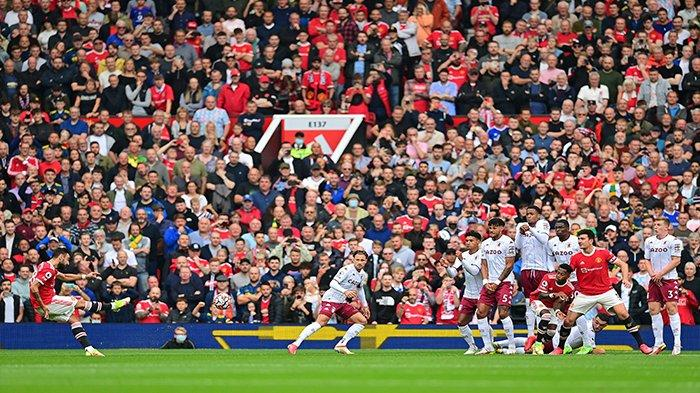 Update Skor Sementara Manchester United vs Aston Villa Sekarang Liga Inggris, Ronaldo Cetak Gol ?