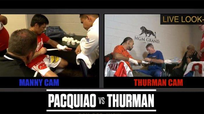 Manny Pacquiao Vs Keith Thurman Siaran Langsung Live Mola TV, Kedua Petinju Tengah Persiapkan Diri