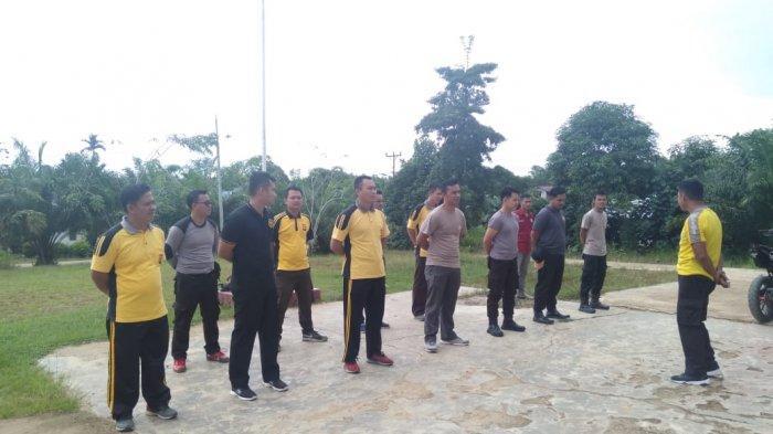 Kapolsek Sampaikan Penekanan Tentang Pencegahan Covid - 19 di Belitang Kabupaten Sekadau