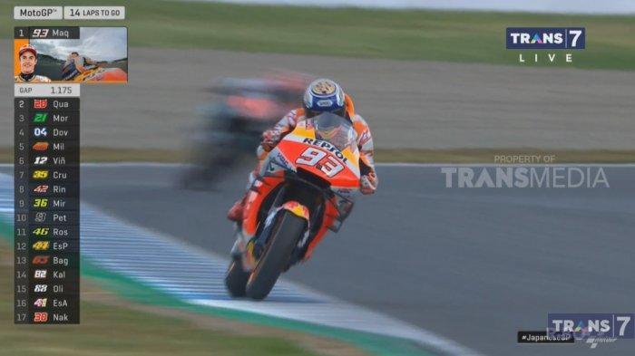 Hasil MotoGP Jepang 2019: Marc Marquez Juara, Valentino Rossi Crash, Dovizioso Taklukkan Vinales