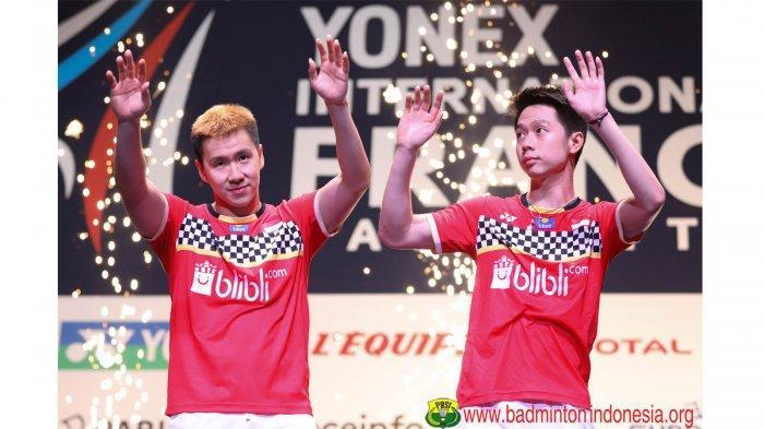 Hasil Fuzhou China Open 2019 - Marcus/Kevin Melaju ke Semifinal Kandaskan Perlawanan Lamsfuss/Seidel