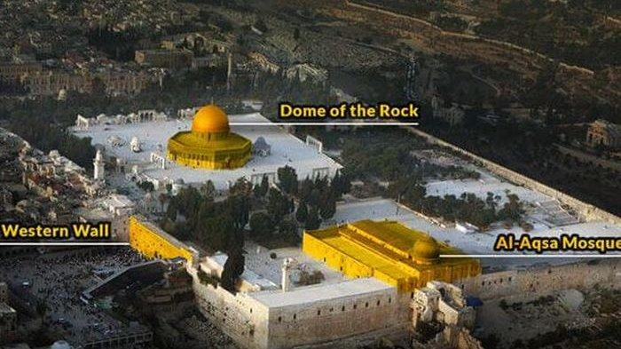 Israel Yakini Surga Tersembunyi di Bawah Masjid Al-Aqsa, Kuil Terbesar Dilapisi Emas Nabi Sulaiman