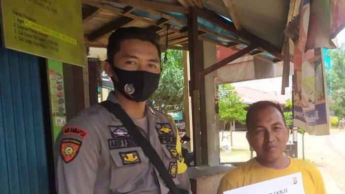 Cegah Covid-19, Polsek Matan Hilir Selatan Gelar Operasi Yustisi Penertiban Penggunaan Masker