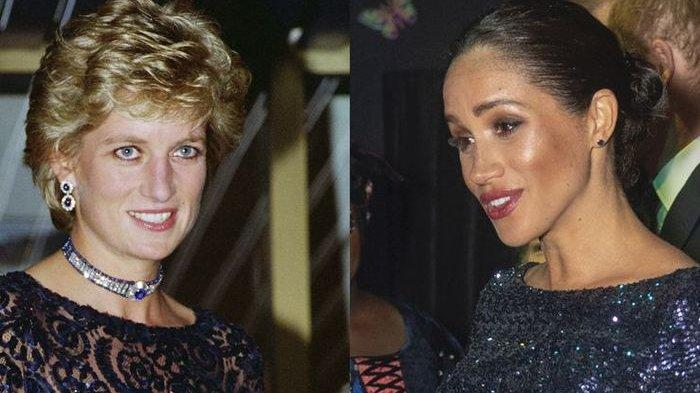 Kenakan Gaun Navy Cetar, Akankah Meghan Markle Jadi Ikon Mode Putri Diana