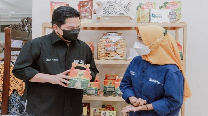Erick Thohir Apresiasi PLN Beri Dukungan 8.000 UMKM Hadapi Pandemi