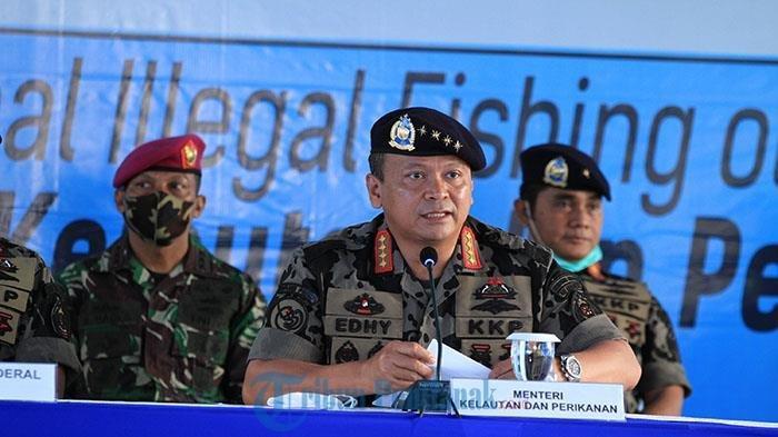 Datang ke PSDKP Pontianak, Menteri Kelautan Edhy Prabowo Cerita Penangkapan Kapal Pencuri Ikan