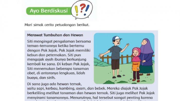 Kunci Jawaban Tema 3 Kelas 4 Halaman 112 113 114 Semester 1 Buku Tema Ayo Cintai Lingkungan Sub 3