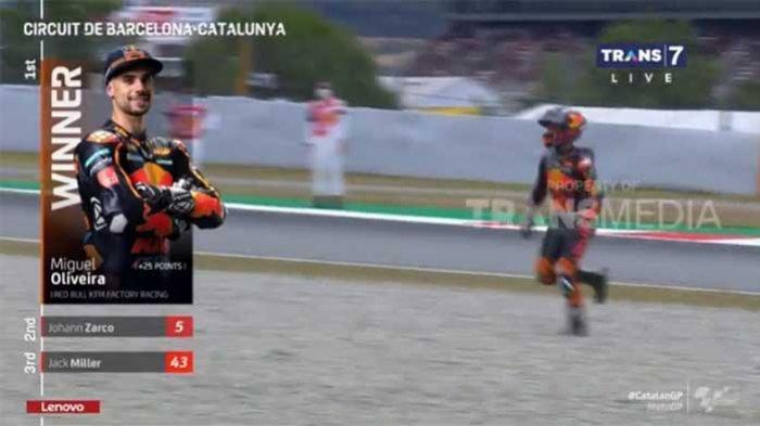 Miguel Oliveira Juara di Hasil MotoGP Catalunya 2021, Cek Klasemen MotoGP 2021 Terbaru Malam Ini