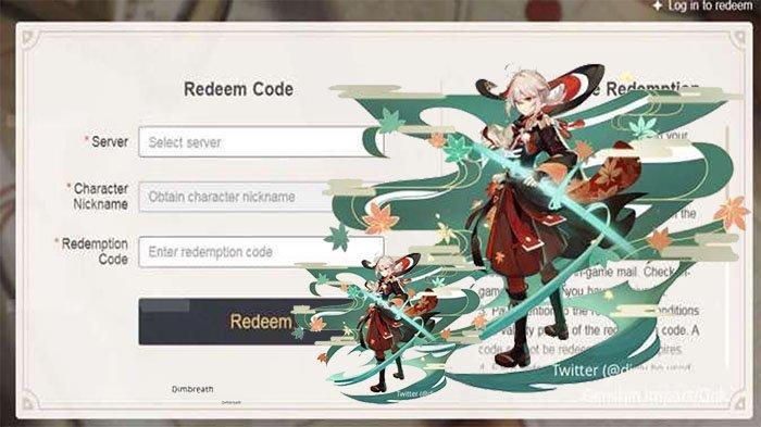 MIHOYO Redeem Code Update di Situs Kode Redeem Genshin Redeem Code Asia Terbaru, Yuk Buruan Klaim !