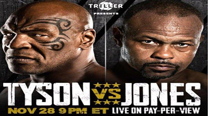 NONTON Tinju Dimana? Ini Link Live Streaming Mike Tyson vs Roy Jones Jr | Apakah Tayang TVOne?