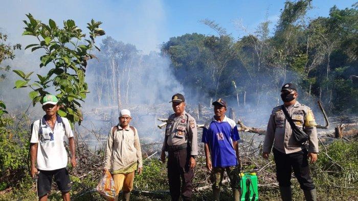 Kapolsek Putussibau Utara Kapuas Hulu Patroli Hotspot Cegah Karhutla