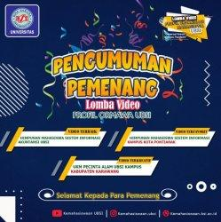 HIMSI UBSI Pontianak Raih Juara Terfavorit Lomba Video Profile