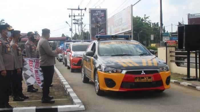 Wakapolres Agus Dwi Cahyono Pimpin Apel Pelepasan Mobile Masker di Mapolres Sanggau