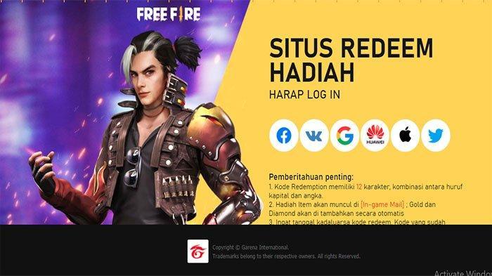 SITUS Redeem Hadiah Free Fire , Cek Redeem Code FF Terbaru Dapatkan Reward FF Garena Hari Ini