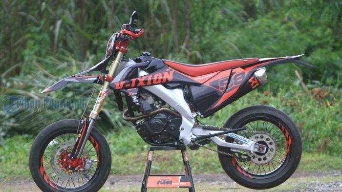 Modifikasi Yamaha Vixion Ala Supermoto Tribun Pontianak