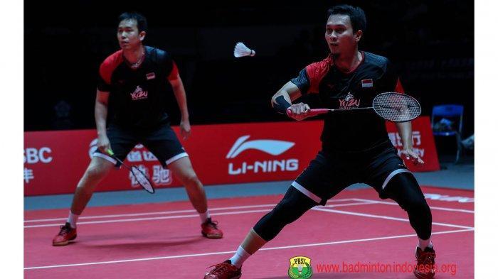 HASIL Ahsan/Hendra vs Lane/Vendy Livescore Perempat Final Toyota Thailand Open 2021 Badminton