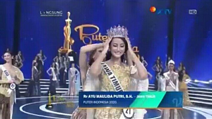 MOMEN Bahagia Rr Ayu Maulida Putri dari Jawa Timur Raih Gelar Puteri Indonesia 2020