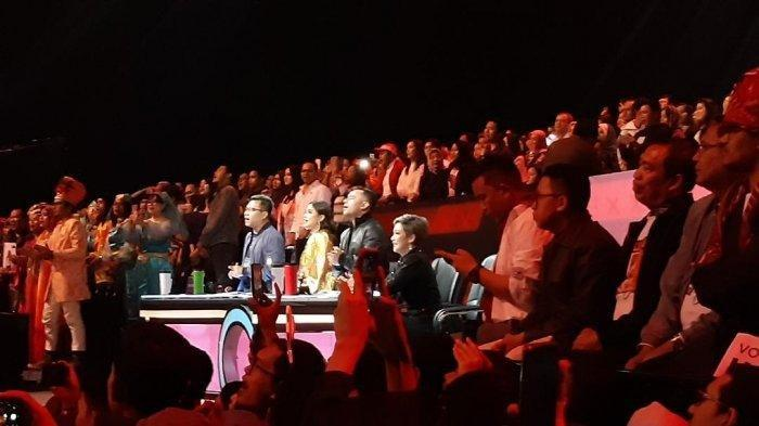 MOMEN Indah Ahmad Dhani dan Maia Estianty di Panggung Indonesian Idol Bikin Studio RCTI Bergemuruh