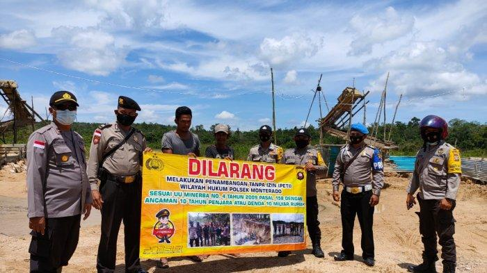 Personel Polsek Monterado Gencarkan Imbauan Larangan Kegiatan PETI pada Masyarakat