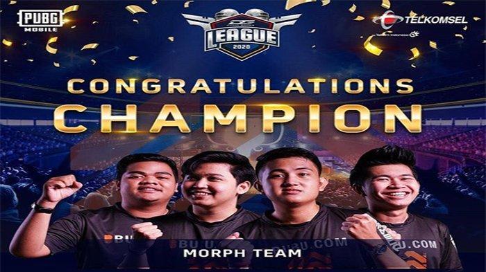 Bigetron RA Kalah, Tim Kuda Hitam Morph Team Juara PUBG Mobile Dunia Games League 2020