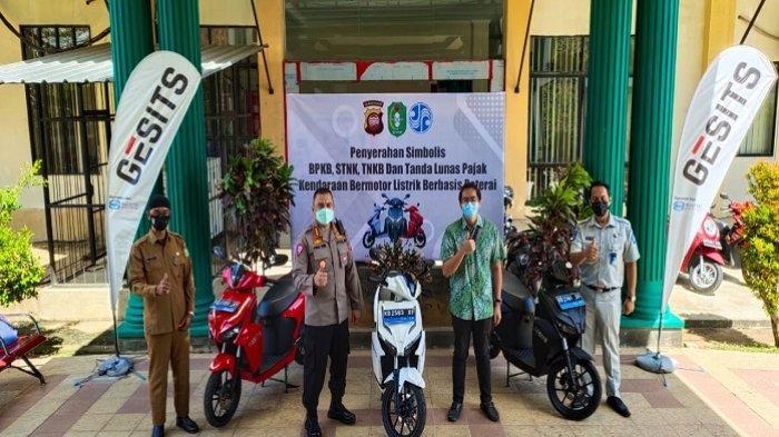 Motor Listrik Nasional Gesits Sah Didaftarkan di Samsat Pontianak