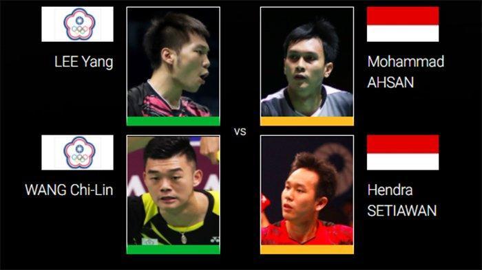 Jadwal Semifinal Toyota Thailand Open 2021 Live TVRI - Rekor Pertemuan Ahsan/Hendra 6 vs 2 Lee/Wang