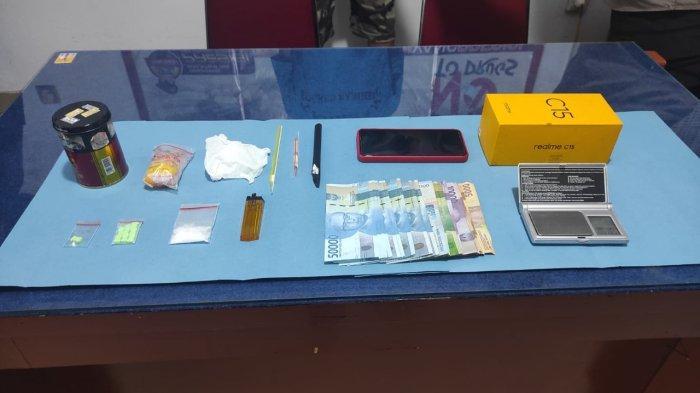 Barang bukti kasus narkoba saat diamankan Polres Sanggau