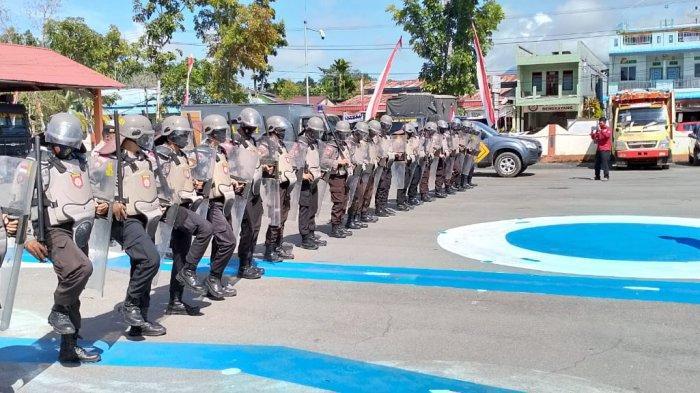 Siap Amankan Pilkada 2020, Personel Polres Bengkayang Gelar Latihan Dalmas