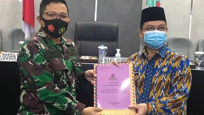 Hadiri Paparan Hasil Kerja Wilayah Pasisi Sesko TNI, Ini Yang Akan Dilakukan Wagub Ria Norsan