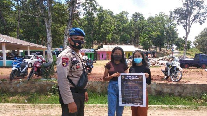 Sat Polair Polres Bengkayang Imbau Pengunjung Tempat Wisata Patuhi Protokol Kesehatan