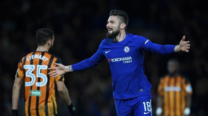Gol Perdana Olivier Giroud Bawa The Blues Chelsea ke Perempatfinal Piala FA