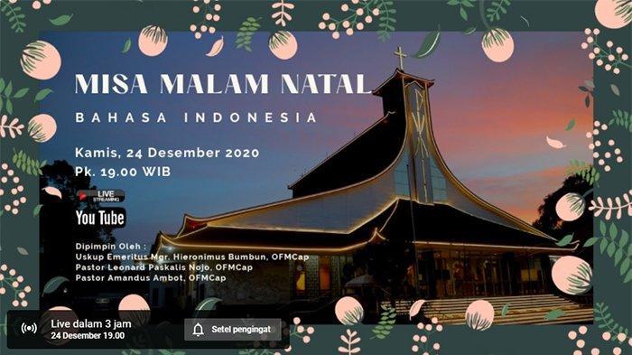 ONLINE Misa Natal Gereja Katedral Indonesia - Live Streaming Misa Natal Virtual - Misa Natal Daring