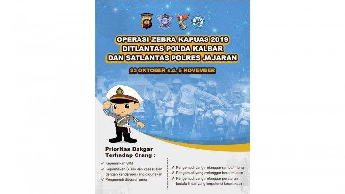 Gelar Operasi Zebra Kapuas 2019 di Kapuas Hulu, Berikut Sasarannya!